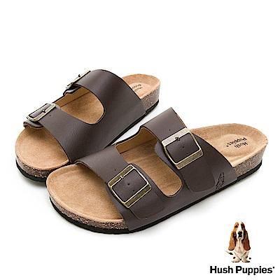 Hush Puppies G.D.休閒減壓拖鞋-咖啡色