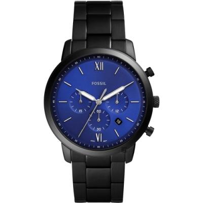 FOSSIL NEUTRA 時尚流行計時手錶(FS5698)-藍/44mm