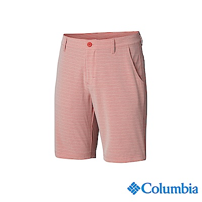 Columbia 哥倫比亞 男款-UPF50防潑短褲-紅色 UFM02380RD