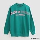 Hang Ten - 女裝-撞色字母印花長袖上衣 -綠