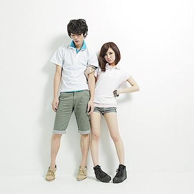 達邦 F0100百搭基本款情侶可穿/混搭短袖素面-白