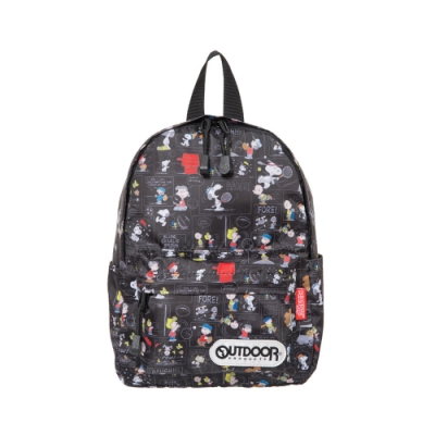 【OUTDOOR】SNOOPY聯名款漫畫版後背包-小-黑色 ODP19A09BK