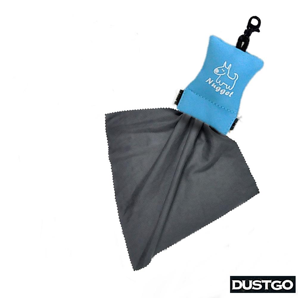 Dustgo超細纖鏡頭擦拭布Bagcloth清潔布BC100拭鏡布(附鑰匙扣收納袋)適光學儀器顯微鏡天文望遠鏡平板螢幕UV濾鏡頭保護鏡攝影機0