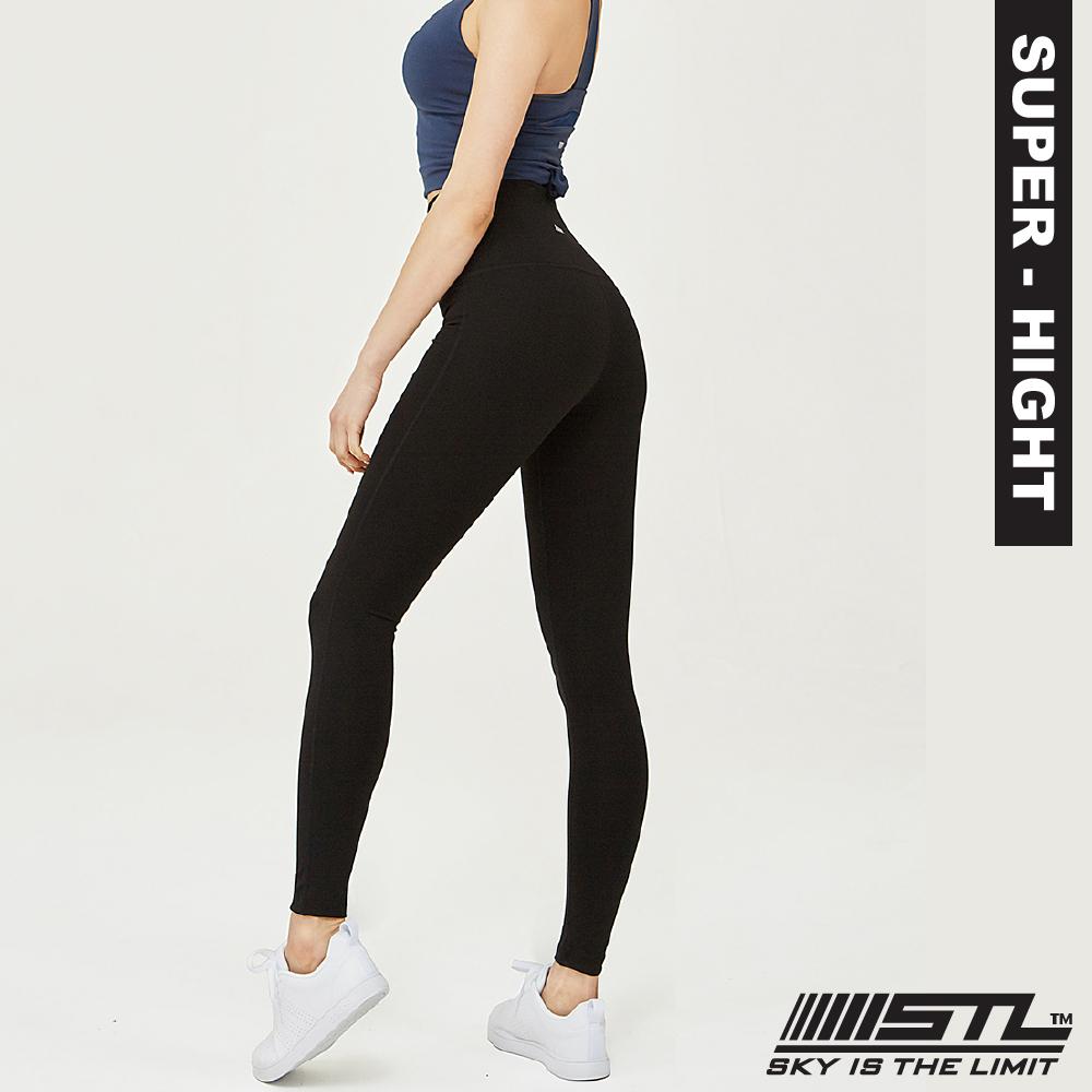 STL Yoga Leggings Pure 9 韓國 女 超高腰 運動訓練機能緊身壓力褲 瑜珈/路跑/登山/重量訓練 純粹黑