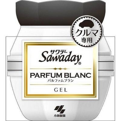 日本【小林製藥】Sawaday PARFUM 車用芳香劑90g-白色花香