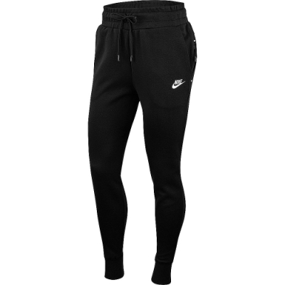 NIKE AS W NSW TCH FLC PANT 縮口 女長褲-黑-BV3473010