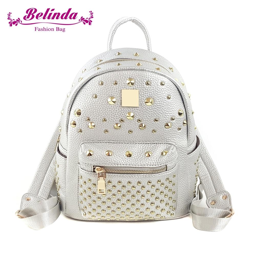 【Belinda】閃耀流星後背包(銀色)