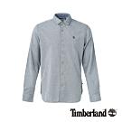 Timberland 男款淺單寧藍修身彈性長袖襯衫|A1NMJ