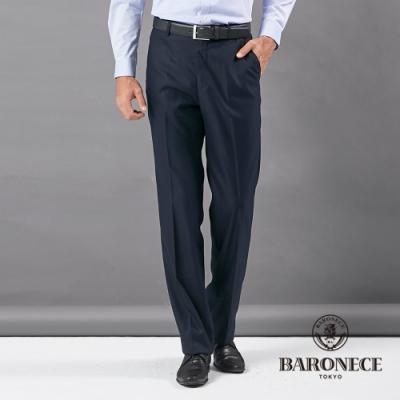 BARONECE 百諾禮士休閒商務  男裝 平口彈力修身版西褲--丈青色(1206845-39)