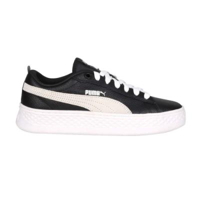 PUMA SMASH PLATFORM L 女運動休閒鞋-厚底鞋 板鞋 復古 36648711 黑灰白