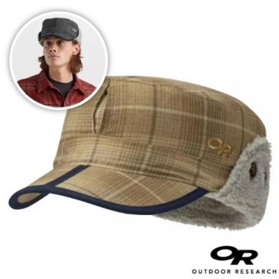 Outdoor Research 新款 YUKON CAP 內刷毛保暖覆耳羊毛帽子/棒球帽(可遮耳)_棕格紋