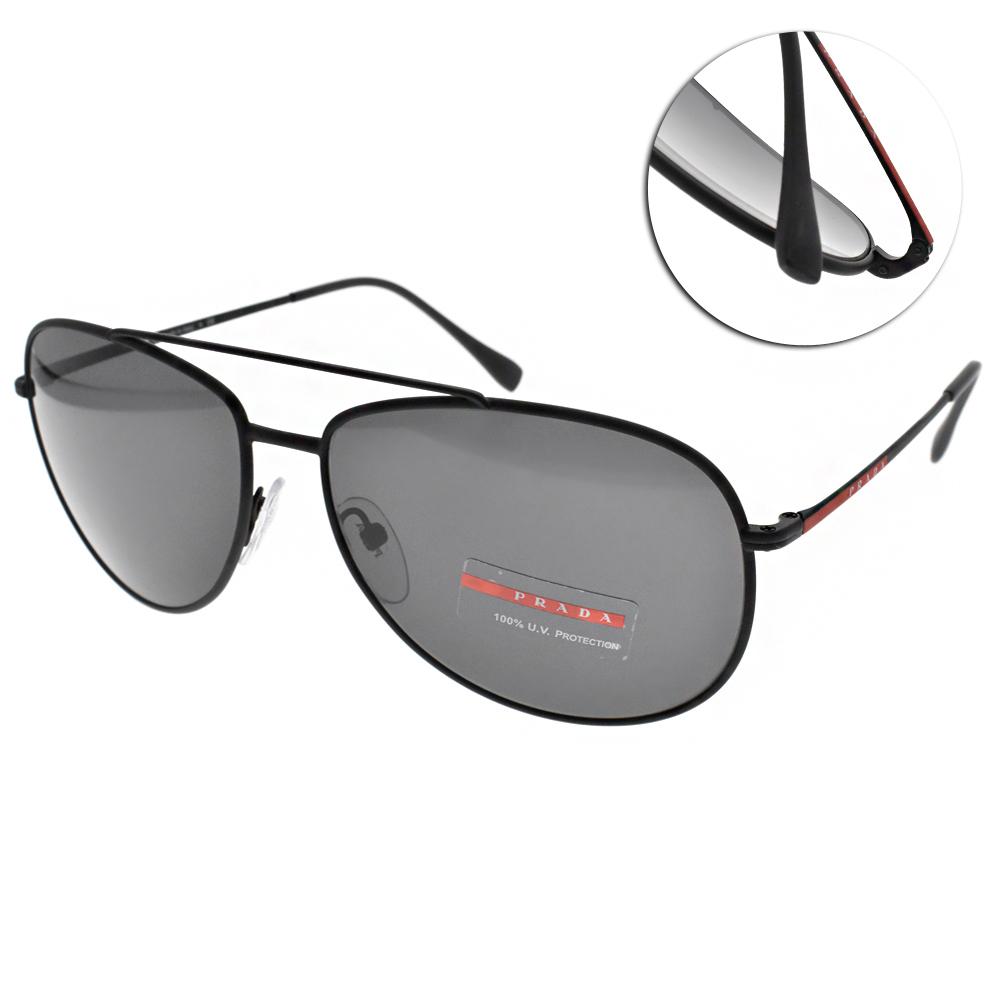 PRADA太陽眼鏡 個性飛行款/黑 #SPS55U DG05S0