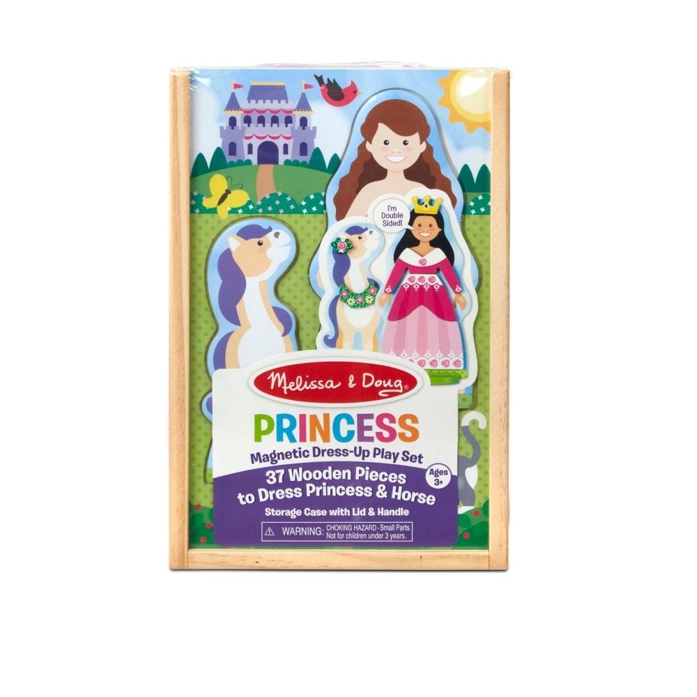 美國瑪莉莎 Melissa & Doug 磁力換裝娃娃提盒組 - 公主