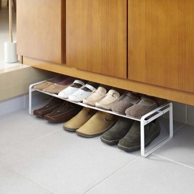 【YAMAZAKI】frame都會簡約伸縮式鞋架-白★高跟鞋架/萬用收納/鞋櫃/靴架