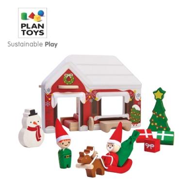 PLANTOYS 天然橡膠木益智玩具 角色扮演系列-小主廚 木質娃娃屋-聖誕禮讚