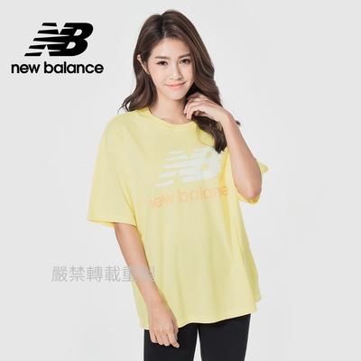 【New Balance】基本短袖T恤_女性_鵝黃色_AWT03519LHZ
