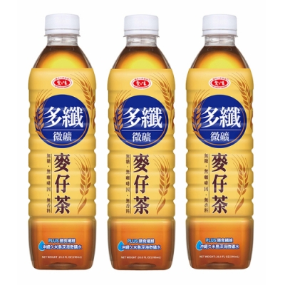 愛之味 多纖微礦麥仔茶(590mlx4入)