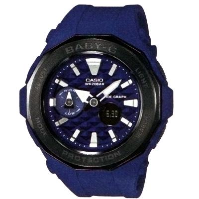 BABY-G海灘豪華露營概念風格休閒運動錶( BGA-225G-2A)藍X黑框45.5mm