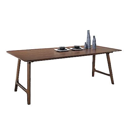品家居 莉亞特6尺橡膠木實木餐桌-180x90x75cm免組