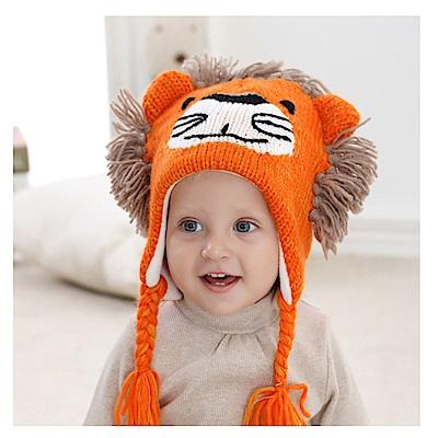 (kidwowo)歐美鬃毛獅子秋冬保暖童帽