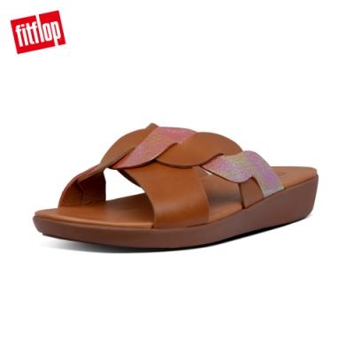 FitFlop REAGAN ROPE SLIDES波浪造型涼鞋-女(淺褐色)