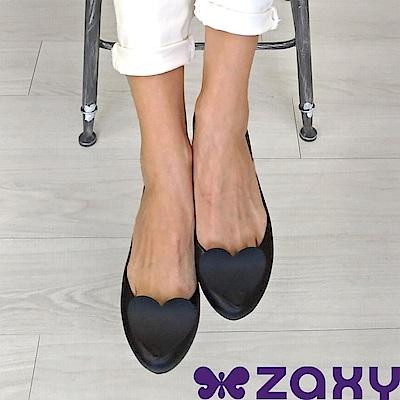 Zaxy 巴西 女 POP HEART 霧面立體愛心娃娃鞋(黑)