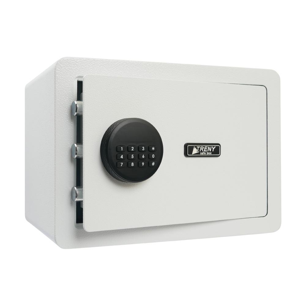 TRENY 三鋼牙 實力電子式保險箱-中 (白)