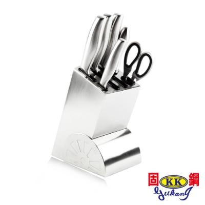 固鋼 主廚料理系列-不鏽鋼刀具7件組