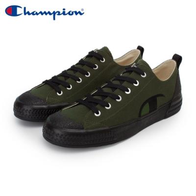 【Champion】PURE C 復古休閒鞋 男鞋-墨綠/黑(MFLS-0078-41)