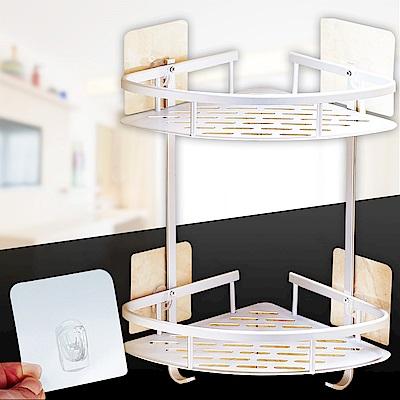 [團購2入][Ezlife]太空鋁多功能無痕牆角置物架