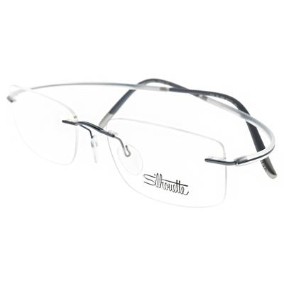 Silhouette詩樂眼鏡 純鈦輕盈無框款/灰藍-透明 #5523 HX 4541