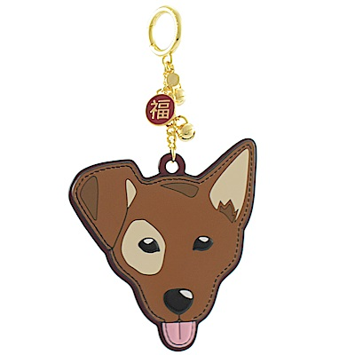 MICHAEL KORS SPOT可愛狗狗吊飾鑰匙圈