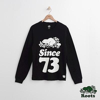 Roots 男裝- 周年系列 73長袖T恤-黑