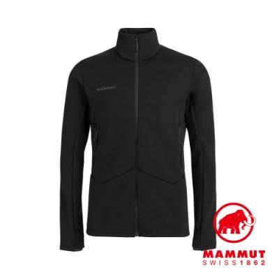 【Mammut 長毛象】Aconcagua ML Jacket Men 快乾耐磨刷毛中層外套 黑色 男款 #1014-02450