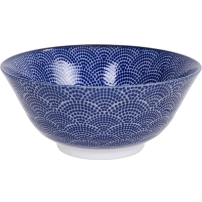 《Tokyo Design》瓷製餐碗(扇點藍15cm)