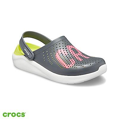Crocs 卡駱馳 (中性鞋) 瘋狂LOGO克駱格 205893-04O