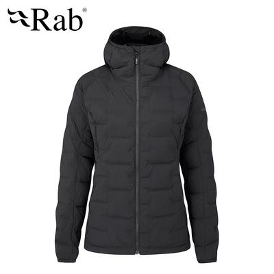 【RAB】Cubit Stretch Down Hoody 保暖羽絨連帽外套 女款 烏木灰 #QDB31