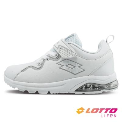 LOTTO 義大利 童鞋 VIGOR RIDE 氣墊跑鞋(白)