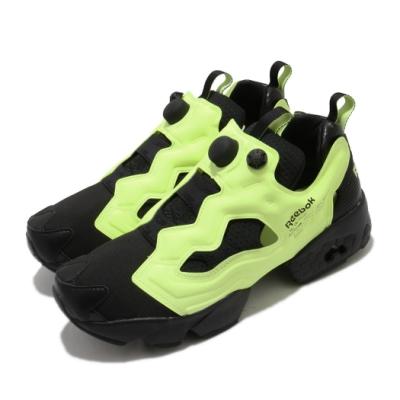 Reebok 休閒鞋 Instapump Fury 運動 男女鞋 經典款 充氣科技 舒適 襪套 情侶穿搭 黑 黃 FV1578