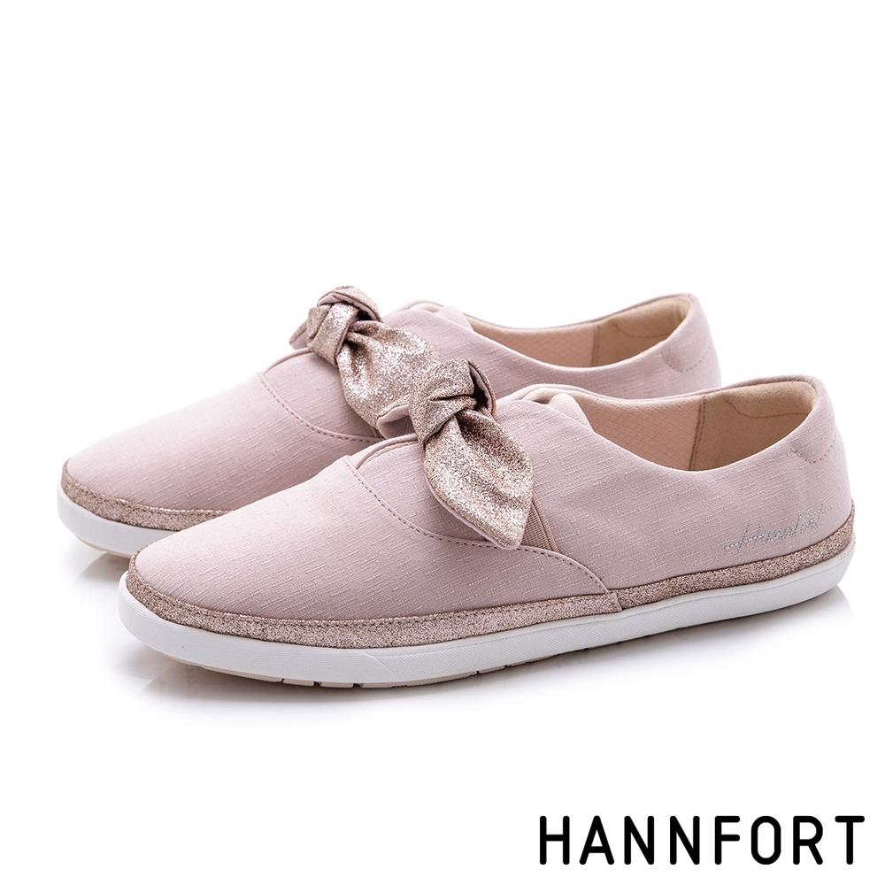 HANNFORT CALIFORNIA金沙扭結丹寧休閒鞋-女-粉