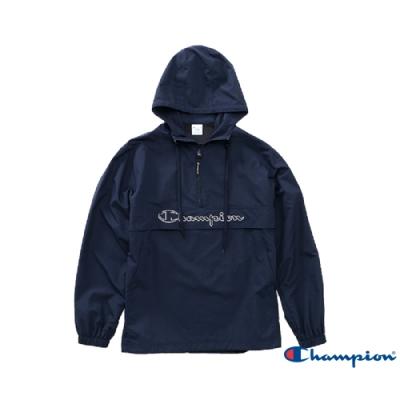 Champion AS Logo刺繡機能連帽上衣(深藍色)