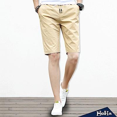 造型反折抽繩綁帶五分短褲 四色-HeHa