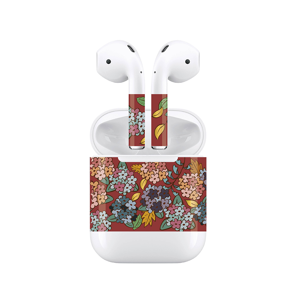 mogen AirPods 隨身耳機保護貼 浪漫花叢款