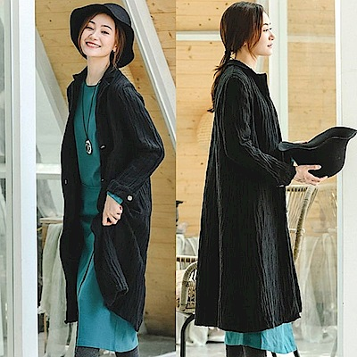 外套-高端訂製樹紋亞麻風衣-F8913-設計所在