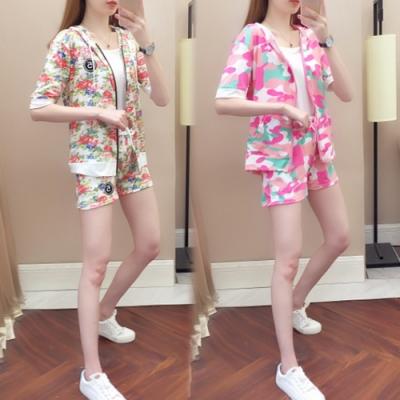【韓國K.W.】(預購) 印花時尚運動套裝褲