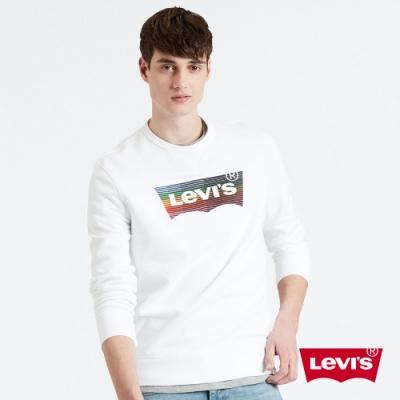 Levis 男款 大學T 高密度膠印彩虹Logo