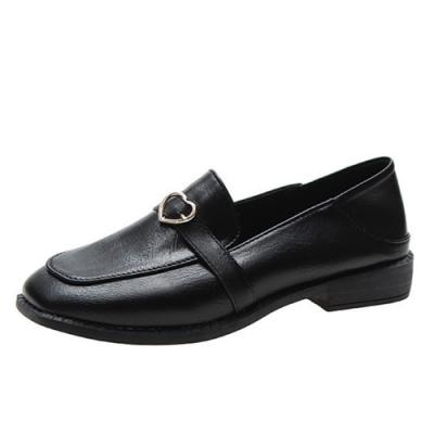 KEITH-WILL時尚鞋館 簡約時尚隨性自在愛心樂福鞋-黑