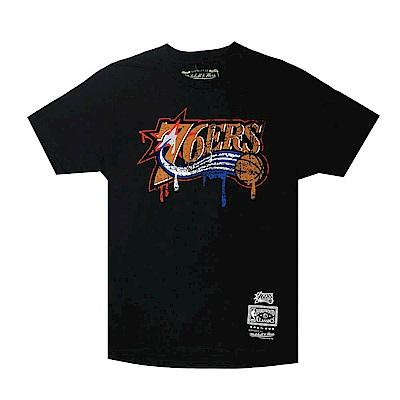 M&N NBA Dripped 短袖T恤 76人 黑