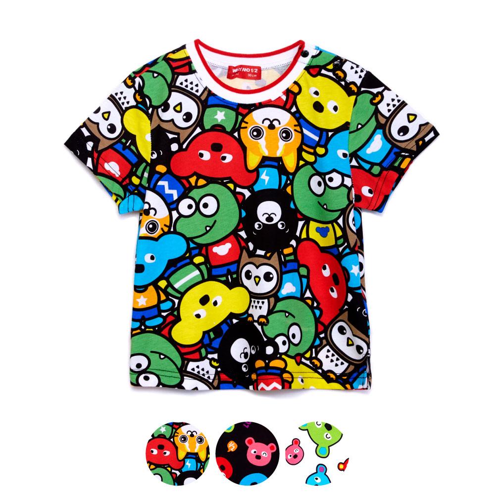 WHY AND 1/2 普普熊棉質T恤 11Y~12Y 多色可選