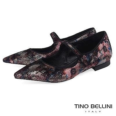 Tino Bellini義大利進口花樣年華絨布瑪麗珍鞋_紅